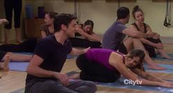 Sophia Bush - Partners S01 E06 - Doing Yoga and Getting a Little Slap on the Tushy!