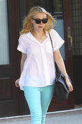 *HQ ADDS* Dakota Fanning- Out in Turquoise Pants in New York City 06/15/11- 8 HQ