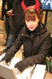 Allison Scagliotti - Devil Horns at Unknown Event - Nov 1, 2010 (x1)