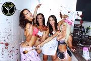 Rosie Jones, Emma Glover, Victoria Moore and Sara Jean Underwoord - Victory Poker Cake Shoot